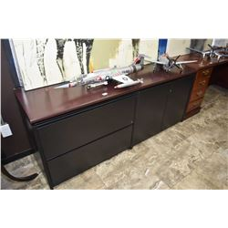 Two door, two drawer office credenza