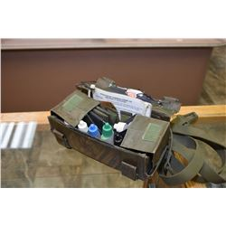 Military chemical detector kit no. 6665-21-870-6740 comprising of test bottles and materials housed