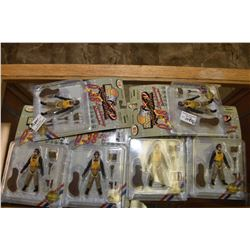 "Six new in package ""The Ultimate Soldier"" P-38 Lightening pilot action figures"