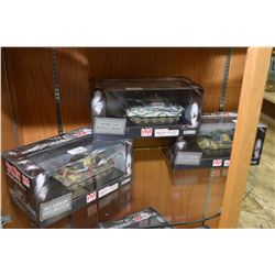 Three new in box 1:48th scale die cast display models, all three are King Tiger's, each with a diffe