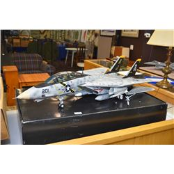 Miltary series scale 1:18th scale F-14A, VF-84 Jolly Rogers US Navy jet plane with packaging, note a
