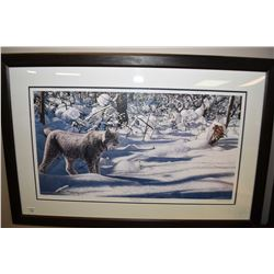 """Framed limited edition print """"Winter Excursion"""" 1266/4000"""