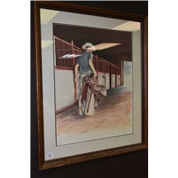 """Framed limited edition print """"The Cutter"""" signed by artist Galper 2/100"""