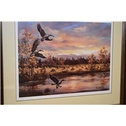 """Framed limited edition print """"Natures Showcase"""" pencil signed by artist G. Jarvis, 221/1500"""