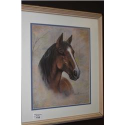Framed print of a horse head