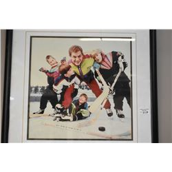 Framed hockey photo