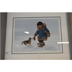 """Framed limited edition print """"Mischief Makers"""" pencil signed by artist Dorothy Francis, 31/395"""