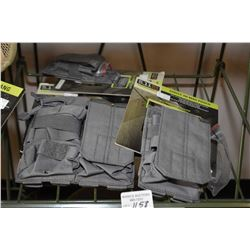 Selection of 511 Tactical gear including double AR mag pouch, single AR mag pouch and single pistol