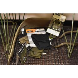 Selection of new 511 Tactical gear including VTAC belt, C5 case, cuff case, Flash Bang and single pi