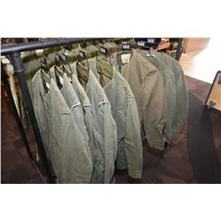 Eight Military issue jacket liners, assorted sized