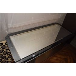 """Large multi panel bevelled mirror, overall dimensions 75"""" X 34"""""""