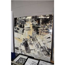 """Large stretch framed abstract picture 40"""" X 40"""""""