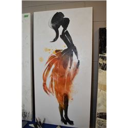 """Stretched canvas print of a woman, 48"""" X 24"""""""