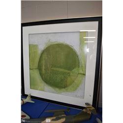 "Framed decor picture, overall dimension, 43"" square"