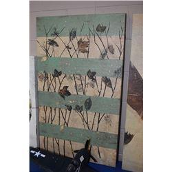 "Leaf motif stretcher framed print, 40"" X 24"""