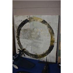 """Stretched canvas print of an abstract circle, 30"""" X 29"""""""