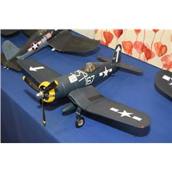 Display model Corsair airplane 1:18th scale, no packaging