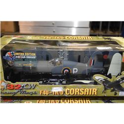 Two new in package The Ultimate Soldier 1:32 scale F4U=-1A/D Corsairs, each with different paint sch