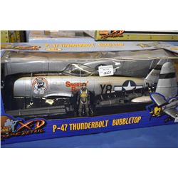 New in package Ultimate Soldier 1:18th scale P-47 Thunderbolt Bubble Top
