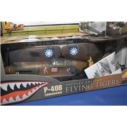 "New in box The Ultimate Soldier 1:18th scale P-40B Tomahawk, Special edition ""Flying Tigers'"