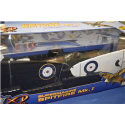 New in box The Ultimate Soldier 1:18th scale Supermarine Spitfire MK.I fighter plane