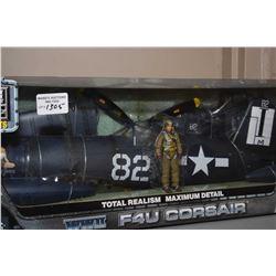 New in box Elite Force 1:18th scale F4U Corsair fighter plane