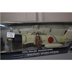 New in box Elite Force 1:18th scale Japanese Zero fighter plane