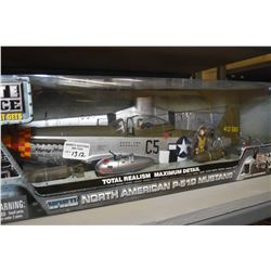 New in box Elite Force 1:18th scale North American P-51D Mustang