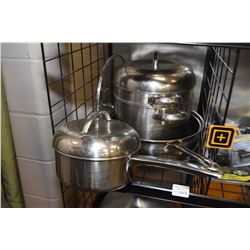 Selection of stainless steel cookware made by Govenors Table