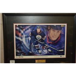 Framed Mike Comrie hand signed promo poster