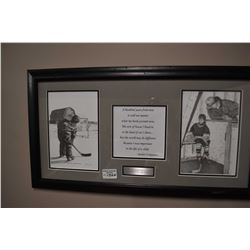 Framed hockey collage