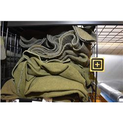 Three military issue wool blankets