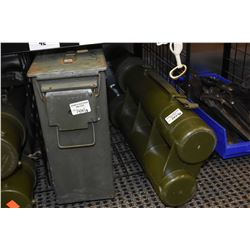 Military metal ammo box and a waterproof document/map holder