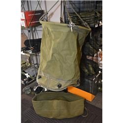Brand new 36 gallon canvas water bag with lid