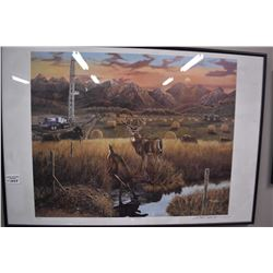 """Framed limited edition print """"A Blessing"""" pencil signed by artist Paul Lalanoe, 235/630"""