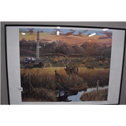 """Framed limited edition print """"A Blessing"""" pencil signed by artist Paul Lalanoe, 291/630"""