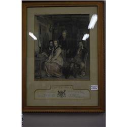 """Framed vintage etching """"Duncan Gray"""""""