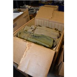 Box lot of used military web pouches and straps