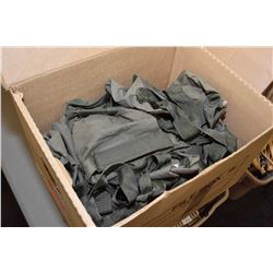 Box lot of fabric and web ammo bags