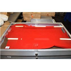 """Aluminium locking 22"""" X 34"""" portable table top display case, key not included"""