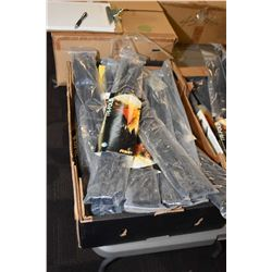 20 packages, each containing six sets of tri-fold disposable restraints