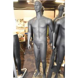 Full figured male mannequin on stainless stand