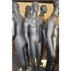 Full figured male mannequin on stainless stand no stand, and damage to shoulder