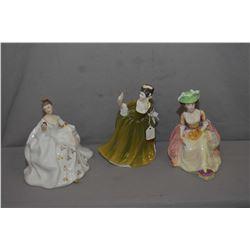 Three Royal Doulton figurines including My Love HN2339, Kathleen HN2933 and Simone HN2378