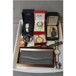 Selection of vintage and collectible watches including two Anne Klein, a Gent's Seiko Sports watch,
