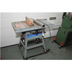 """Delta QT-10, 10"""" table saw with fence and guard, height and angle control, note does not come with r"""