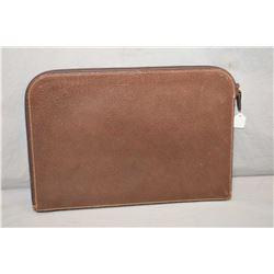 Genuine Gucci leather zippered folio