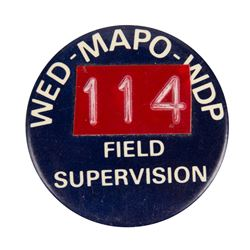 WED Imagineering Field Supervisor Identification Pin.