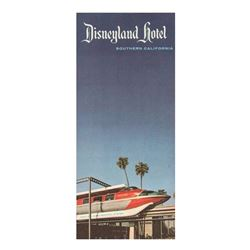 Disneyland Hotel Information Flyer and Brochure.