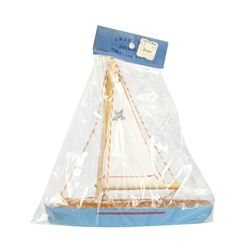 Unopened Disneyland Taylor & Hume Toy Sailboat.